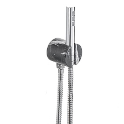 Marmo Hand Shower and Wall Mounted Bracket and Shower Hose Black
