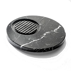 Marmo Round Soap Holder Black