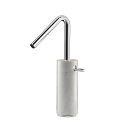 Marmo Tall Mono Basin Mixer White