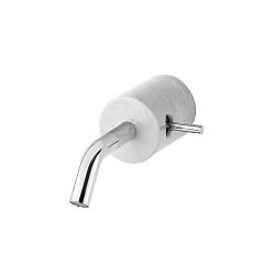 Marmo Wall-Mounted Mono Basin Mixer White
