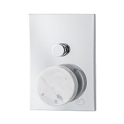 Marmo Manual Shower Valve 2-Way White