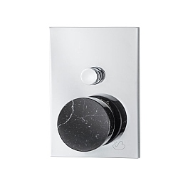 Marmo Manual Shower Valve 2-Way Black
