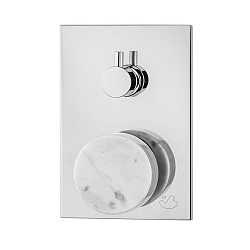 Marmo Manual Shower Valve 3-Way White