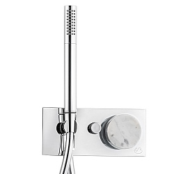 Marmo Manual Shower Valve 2-Way With Handshower White