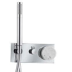 Marmo Manual Shower Valve 3-Way With Handshower White
