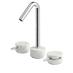 Marmo High Spout 3-Piece Basin Mixer White