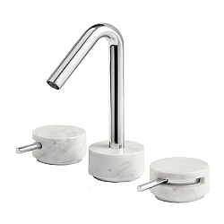 Marmo Low Spout 3-Piece Basin Mixer White