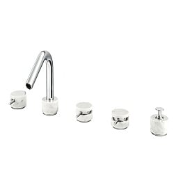Marmo 5-Piece Bath Filler White