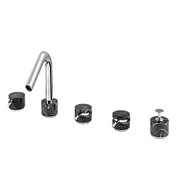 Marmo 5-Piece Bath Filler Black