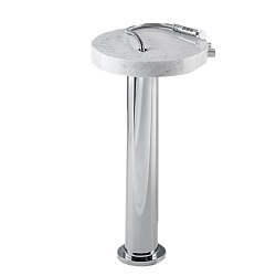 Marmo Freestanding Bath Filler Mixer White