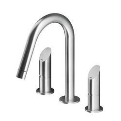 MGS 3-Piece Basin Mixer Fixed Swan Neck Spout