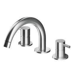 MGS 3-Piece Basin Mixer Low Curved Spout