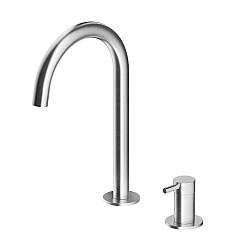 MGS Single Lever Basin Mixer Fixed Curved Spout