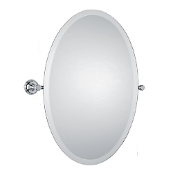 Samuel Heath Style Moderne Tilting Mirror Oval