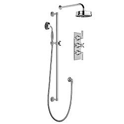 Samuel Heath Style Moderne Wall-Mounted Head & Handshower Set