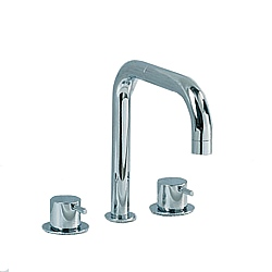 Vola SC6 Dual Control Double Swivel Spout Bath Filler