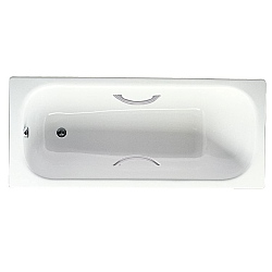 Waltz Steel Inset Bath With Grips