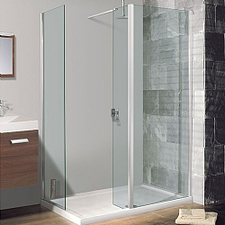 Simpsons Semi-Frameless End Panel For Walk -In Shower Enclosure