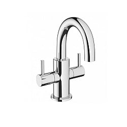 Crosswater Mike Pro Dual Handle Mini Basin Monobloc