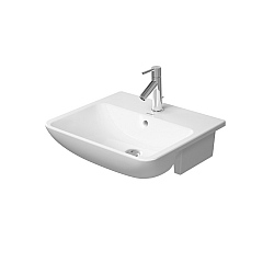 Duravit ME by Starck Semi-Recessed Basin 550mm Satin Matt White