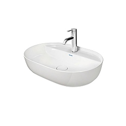 Duravit Luv Washbowl 600mm With Tap Platform