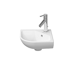 Duravit ME by Starck Corner Handbasin 430mm Satin Matt White