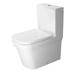 Duravit P3 Comforts Close-Coupled Semi Back-To-Wall Rimless Pan