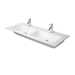 Duravit ME by Starck Double Washbasin 1300mm Satin Matt White