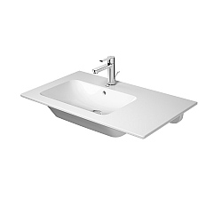 Duravit ME by Starck Asymmetric Furniture Basin 830mm Left Hand Satin Matt White