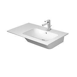 Duravit ME by Starck Asymmetric Furniture Basin 830mm Right Hand Satin Matt White