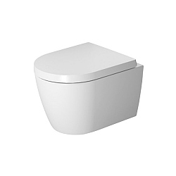 Duravit ME by Starck Rimless Compact Wall-Mounted Pan