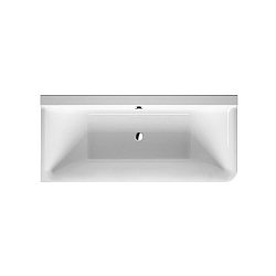 Duravit P3 Comforts Corner Left Inset Bath with Seamless Panel