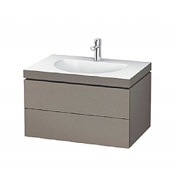 Duravit L Cube C-Bonded Wall-Mounted 2-Drawer Vanity Unit 800mm