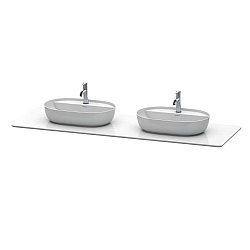Duravit Luv Quartz Stone Console Top 1783mm For 2 Washbowls