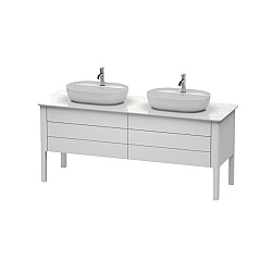 Duravit Luv Freestanding 4-Drawer Vanity Unit 1733mm for 2 Washbowls
