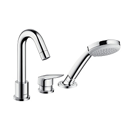 Hansgrohe Logis 3-Piece Single Lever Bath Mixer